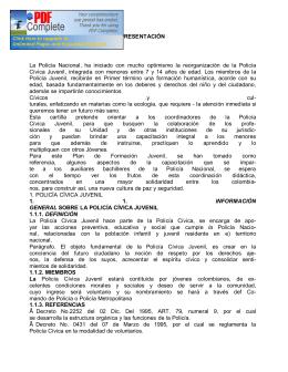 Libro Policia Civica Juvenil - Policía Nacional de Colombia