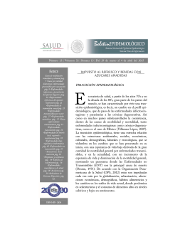 BMENSUAL 13 2015 - Dirección General de Epidemiología