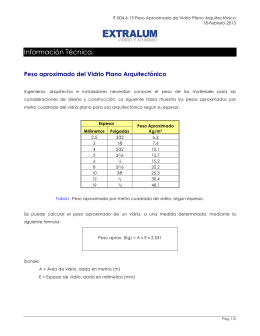 IT-004.6-13 Peso Aproximado de Vidrio Plano