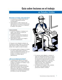 Guía sobre lesiones en el trabajo en Estados Unidos