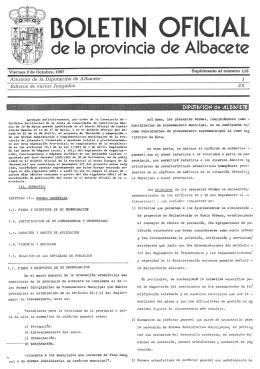 Normas subsidiarias y complementarias de la provincia de Albacete