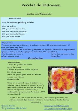 Nocilla y Gominolas - Cocina con mi robot