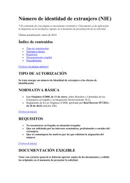 Número de identidad de extranjero (NIE)
