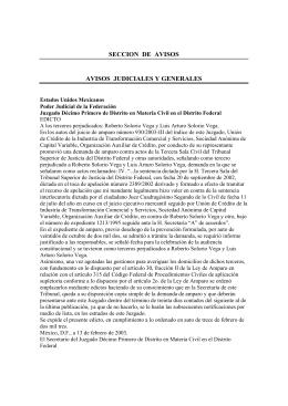 seccion de avisos avisos judiciales y generales - Diario-o