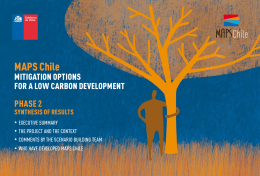 MAPS Chile - Mitigation Action Plans and Scenarios (MAPS)
