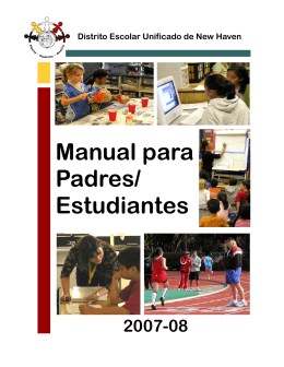 Manual para Padres/ Estudiantes - New Haven Unified School District