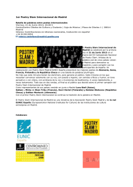 1er Poetry Slam Internacional de Madrid