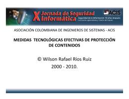 Medidas tecnológicas efectivas de protección de contenidos en la