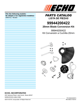 parts catalog lista de piezas