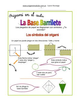 Los plegados de papel se diagraman con símbolos