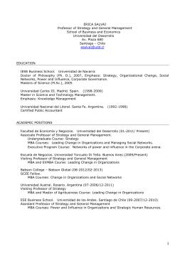 CV Erica Salvaj (Junio 2015)