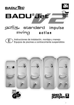 Instrucciones de instalación, montaje y manejo Equipos de piscinas