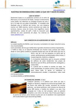 Información sobre Saïdia