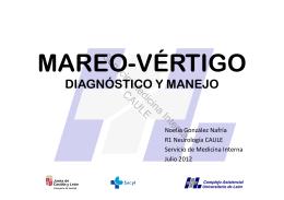 mareo, vértigo. diagnóstico y manejo