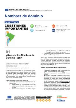 01 M Nombres de dominio - Latin America IPR SME Helpdesk