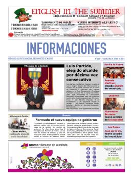Luis Partida, elegido alcalde por décima vez consecutiva