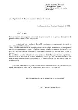 CV y Carta - Técnico en Mesa y López