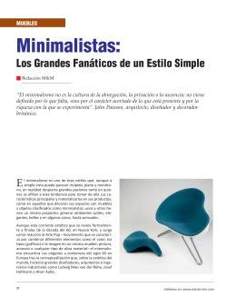 Minimalistas: - Revista El Mueble y La Madera