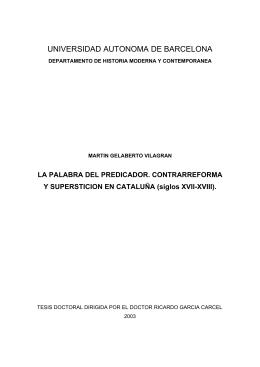 LA PALABRA DEL PREDICADOR. CONTRARREFORMA