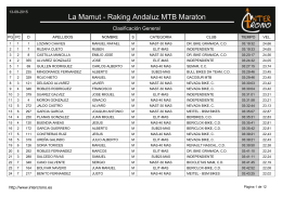 La Mamut - Raking Andaluz MTB Maraton