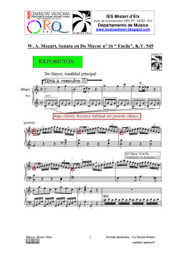 "W. A. Mozart, Sonata en Do Mayor nº 16 "" Facile"", K.V. 545"