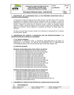 estudios previos para contratos - Corporación Autónoma Regional