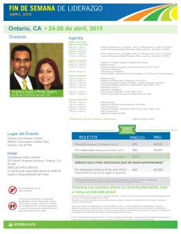 Ontario, CA • 24-26 de abril, 2015