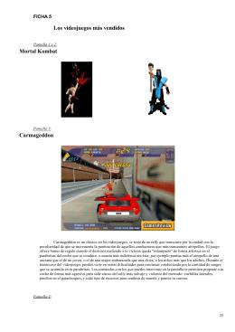 Los videojuegos más vendidos Mortal Kombat Carmageddon