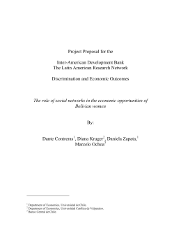 Project Proposal for the Inter-American Development Bank The Latin