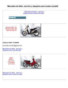 Manuales de taller, servicio y despiece para motos mondial