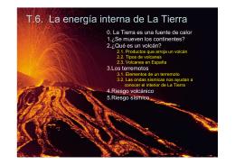 Tema 6: La energía interna de la Tierra