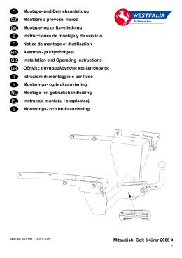 Mitsubishi Colt 3-türer 2006   Montage