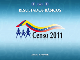 Resultados Básicos del Censo 2011