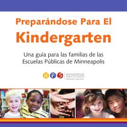 Preparándose para el Kindergarten.