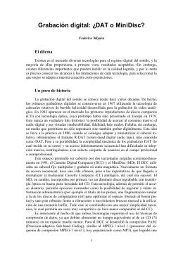 "Federico Miyara ""Grabación digital: ¿DAT o Minidisc?"""