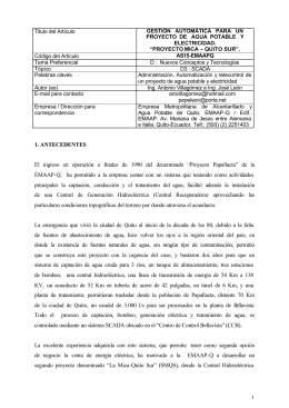 Proyecto MICA - Quito-Sur