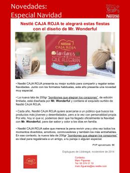 Nestlé CAJA ROJA te alegrará estas fiestas con el diseño de Mr