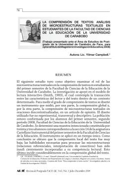 La comprensión de textos: análisis de microestructuras textuales en