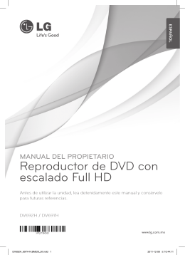 Reproductor de DVD con escalado Full HD