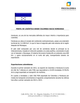 Perfil Logístico de Honduras