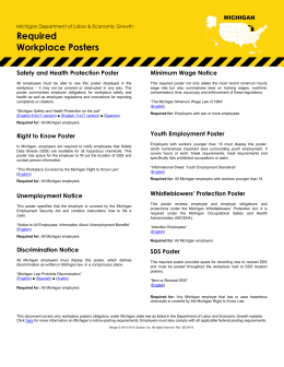 Employee Information Posters – Michigan