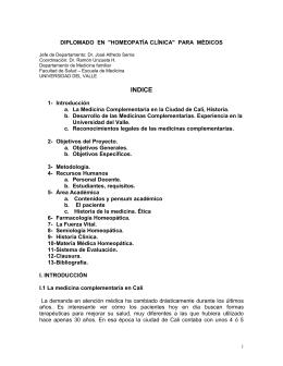 "diplomado en ""homeopatia clinica"" para medicos"