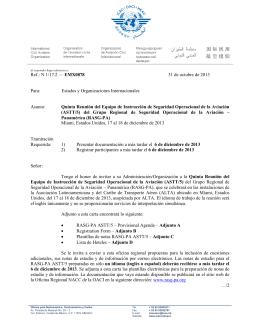 Ref.: N 1/17.2 — EMX0878 31 de octubre de 2013 Para