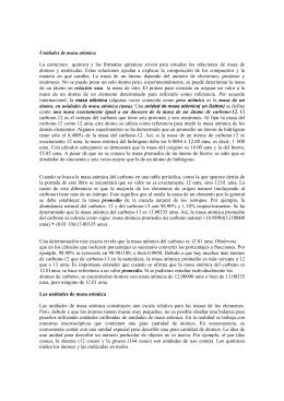 Unidades de masa atómica La estructura química y las fórmulas