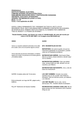 Tacticas - Instituto Nacional Electoral