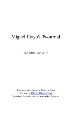Miguel Etayo`s Twournal