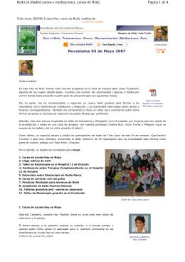 Página 1 de 4 Reiki en Madrid cursos y meditaciones, cursos de Reiki