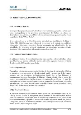 4.7 Aspectos Socioeconómicos
