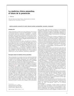 La medicina clínica preventiva: el futuro de la prevención