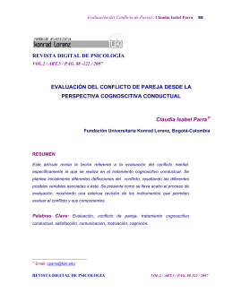 5 Evaluacion del Conflicto de Pareja Claudia Parra